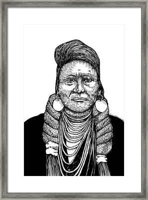 Chief Joseph Framed Print by Karl Addison