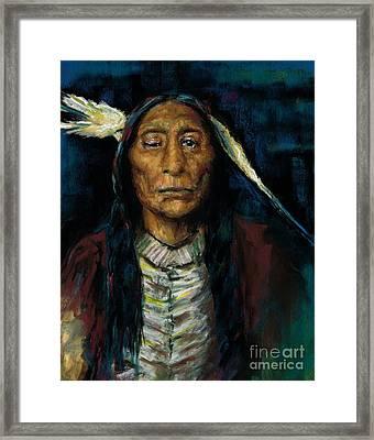 Chief Niwot Framed Print by Frances Marino