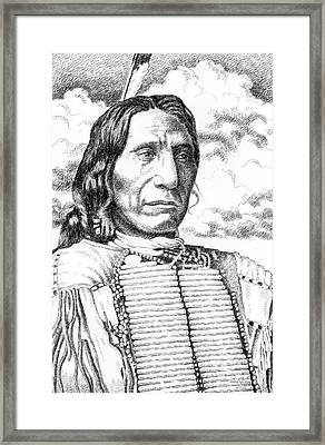 Chief-red-cloud Framed Print by Gordon Punt