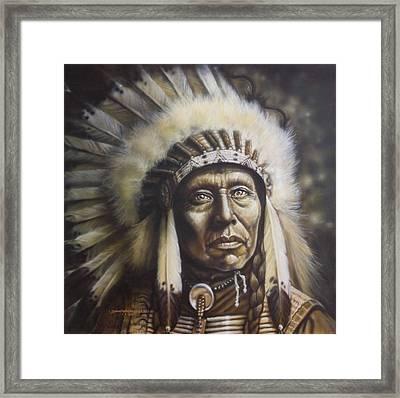 Chief Framed Print by Tim  Scoggins