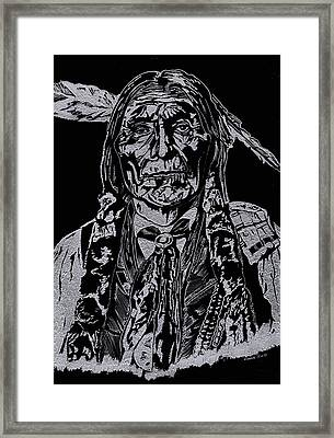 Chief Wolf Robe Framed Print by Jim Ross