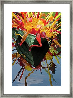 Chihully Boat Framed Print by Charles Warren