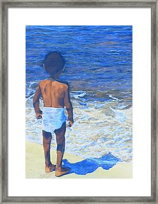 Child Of The Sea Framed Print by Duwayne Washington