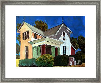 Childhood Home Plein Air Framed Print by Charlie Spear