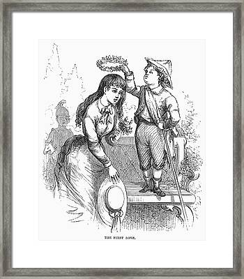 Children: Love Framed Print by Granger
