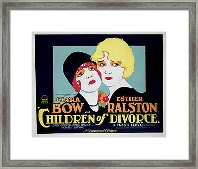 Children Of Divorce, Clara Bow, Esther Framed Print by Everett