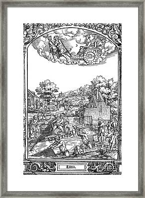 Children Of The Moon, 16th Century Framed Print by Photo Researchers