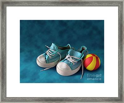 Children Sneakers Framed Print by Carlos Caetano