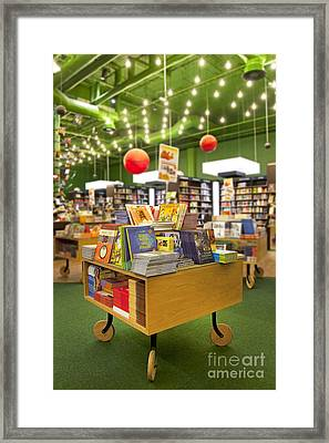 Childrens Books On Display Framed Print by Jaak Nilson