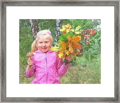 Children's Fall Framed Print by Tomasz Bujak