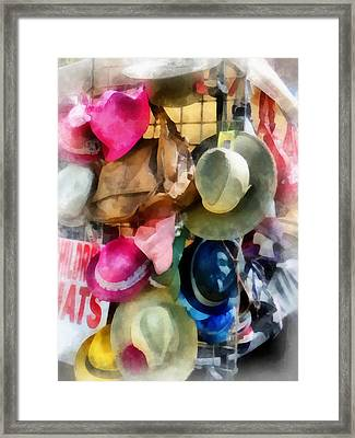 Children's Hats Framed Print by Susan Savad