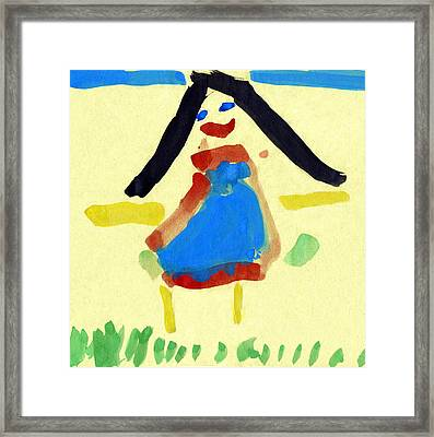 Child's Painting Framed Print by Sheila Terry