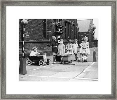 Child's Play Framed Print by Fox Photos
