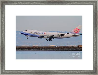 China Airlines Cargo Jet Airplane At San Francisco International Airport Sfo . 7d12301 Framed Print by Wingsdomain Art and Photography