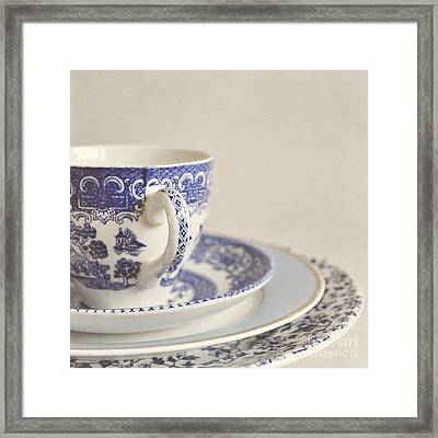 China Cup And Plates Framed Print by Lyn Randle