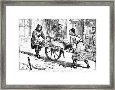 China: Famine, 1877 Framed Print by Granger