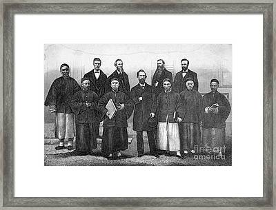 China: Missionaries, 1876 Framed Print by Granger