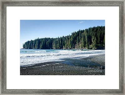 China Surf China Beach Juan De Fuca Provincial Park Bc Canada Framed Print by Andy Smy