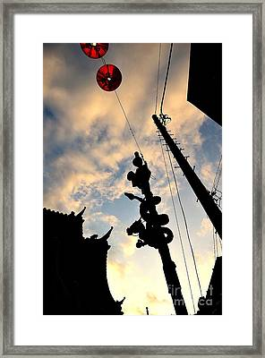 Chinatown At Sunset Framed Print by Dean Harte