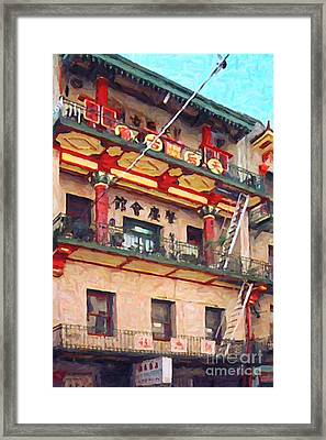 Chinatown Framed Print by Wingsdomain Art and Photography