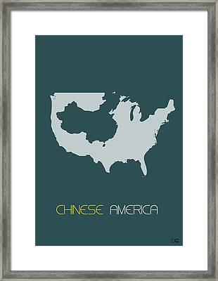 Chinese America Poster Framed Print by Naxart Studio