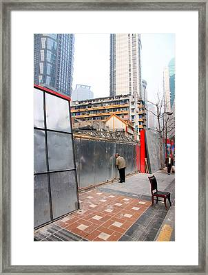 Chinese Construction Site Framed Print by Valentino Visentini