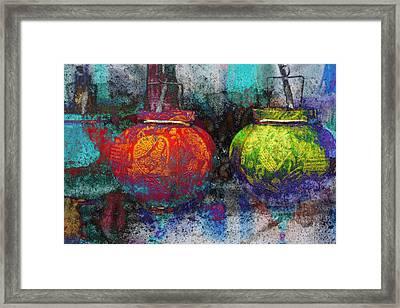 Chinese Lanterns Framed Print by Skip Nall