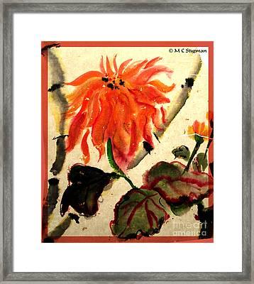 Chinese Mum Framed Print by M C Sturman