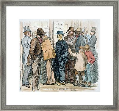 Chinese Voting, 1880 Framed Print by Granger