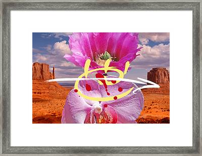 Chingasso Ojo Framed Print by Geronimo