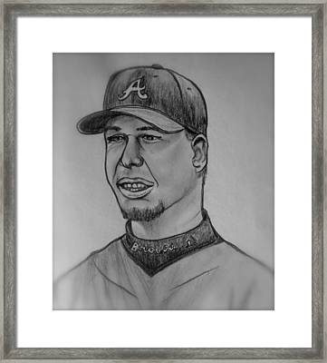 Chipper Jones Framed Print by Pete Maier