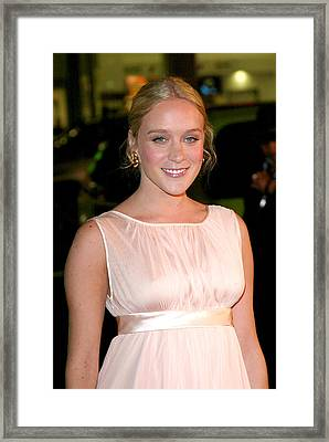 Chloe Sevigny At Arrivals For Big Love Framed Print by Everett