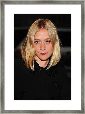 Chloe Sevigny In Attendance Framed Print by Everett
