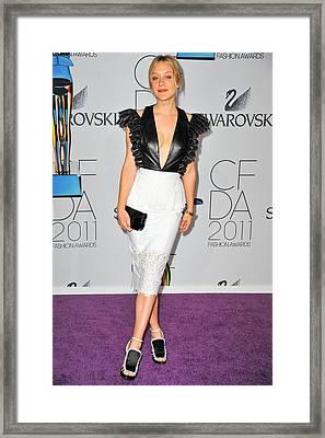 Chloe Sevigny Wearing Chloe Sevigny Framed Print by Everett