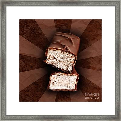Chocolate Bars Framed Print by HD Connelly