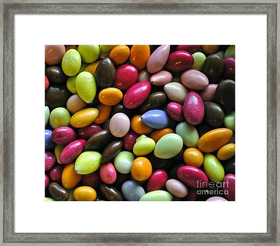 Chocolate Covered Sunflower Seeds Framed Print by Gwyn Newcombe