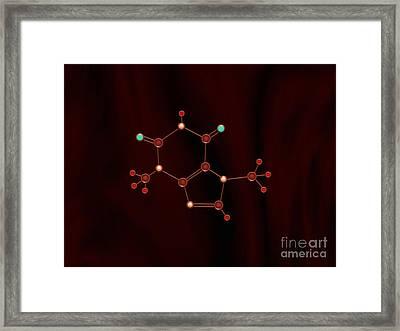 Chocolate Molecule Framed Print by Pet Serrano