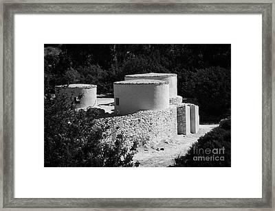 Choirokoitia Ancient Neolithic Village Settlement Republic Of Cyprus Framed Print by Joe Fox