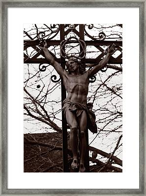 Christ Among The Ruins Framed Print by Pam Blackstone