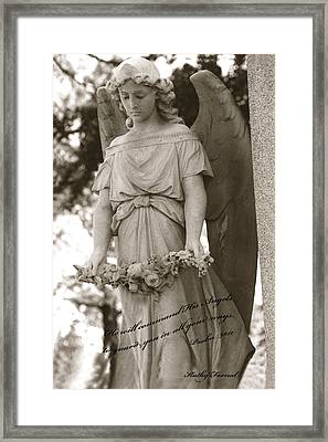 Christian Angel Art - Angel Holding Garland Framed Print by Kathy Fornal