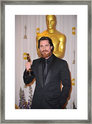 Christian Bale, Best Performance By An Framed Print by Everett