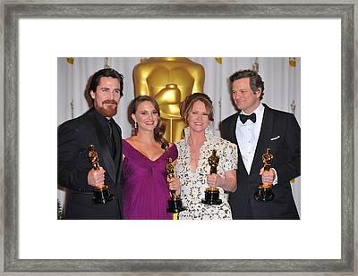 Christian Bale, Natalie Portman Framed Print by Everett