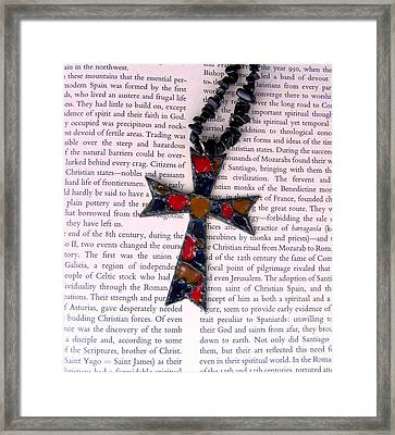 Christian  Cross Framed Print by Cynthia Amaral