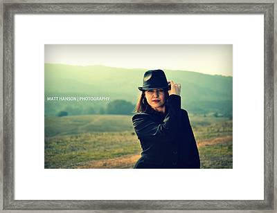 Christine Portrait 01 Framed Print by Matt Hanson