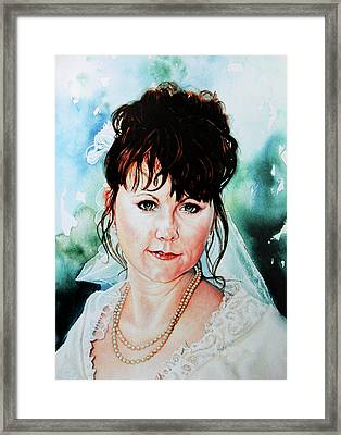 Christis Wedding Day Framed Print by Hanne Lore Koehler
