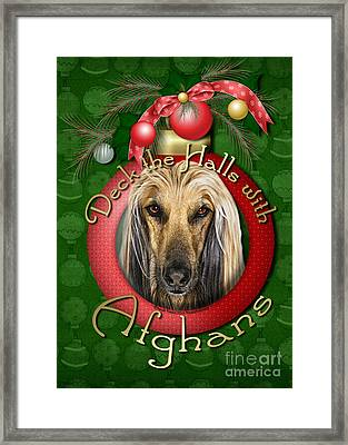 Christmas - Deck The Halls With Afghans Framed Print by Renae Laughner
