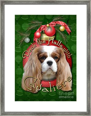 Christmas - Deck The Halls With Cavaliers Framed Print by Renae Laughner
