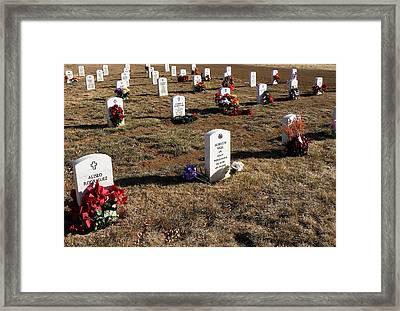 Christmas At Fort Bayard National Cemetery Framed Print by FeVa  Fotos