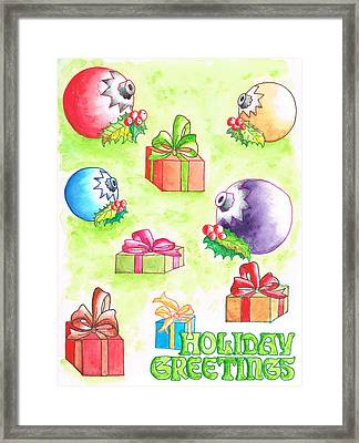 Christmas-card Framed Print by Carlos G Groppa