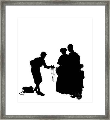 Christmas Gift - A Silhouette 1a Framed Print by Reggie Duffie